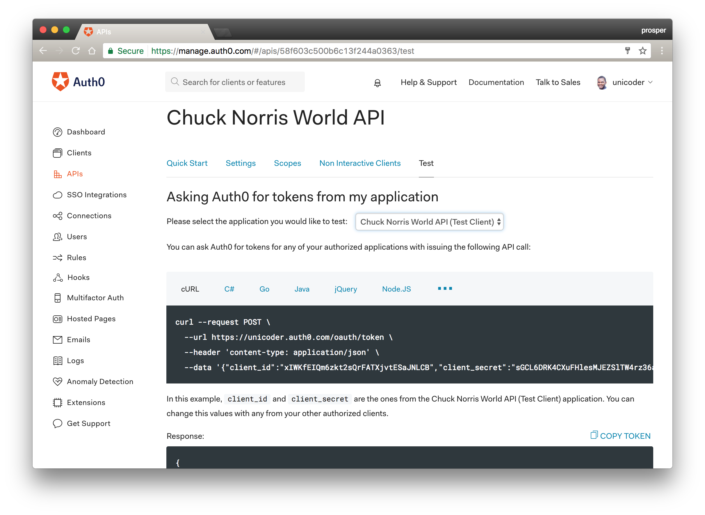 Chuck Norris World Client
