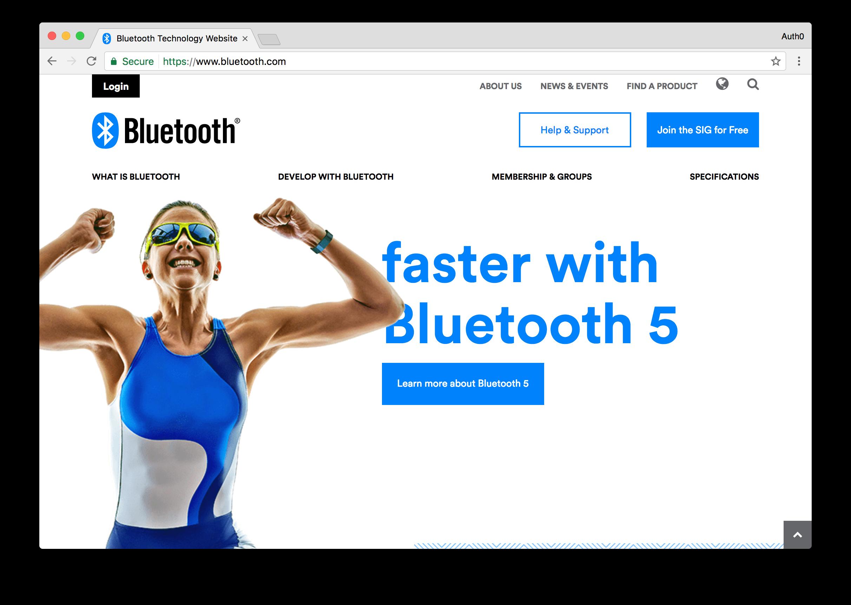Bluetooth Website