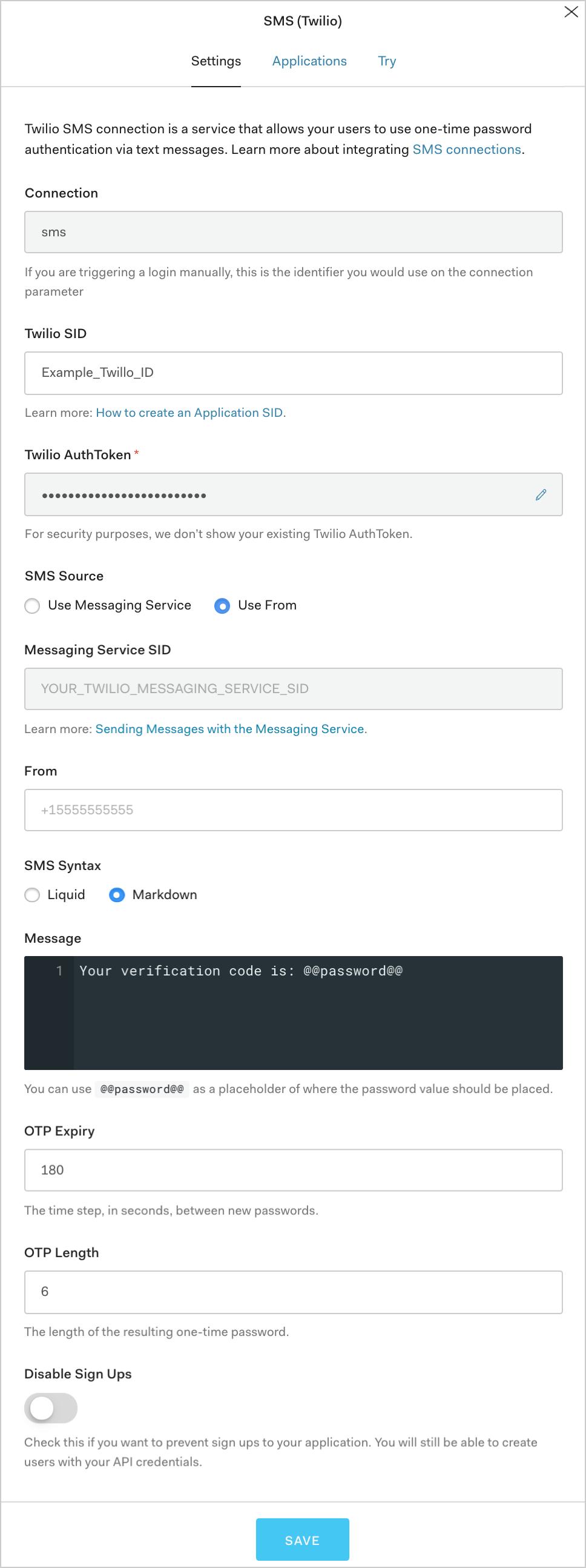 Configure SMS Passwordless