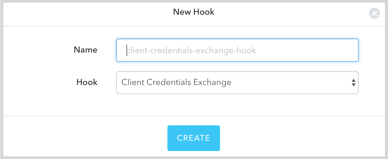 New Client Credentials Hook