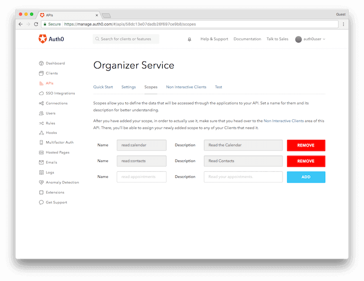 Represent Multiple APIs Using a Single Logical API in Auth0