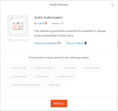 Install the Authorization Extension