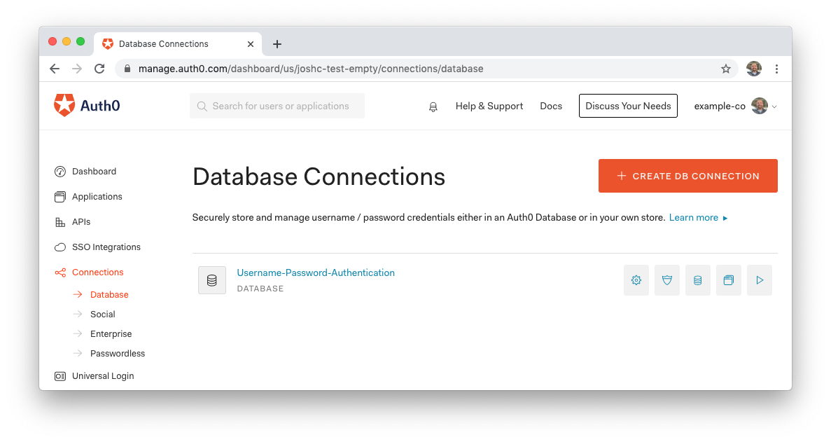 Database Connection Listing