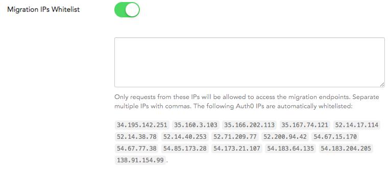 WordPress User Migration - IP Whitelist