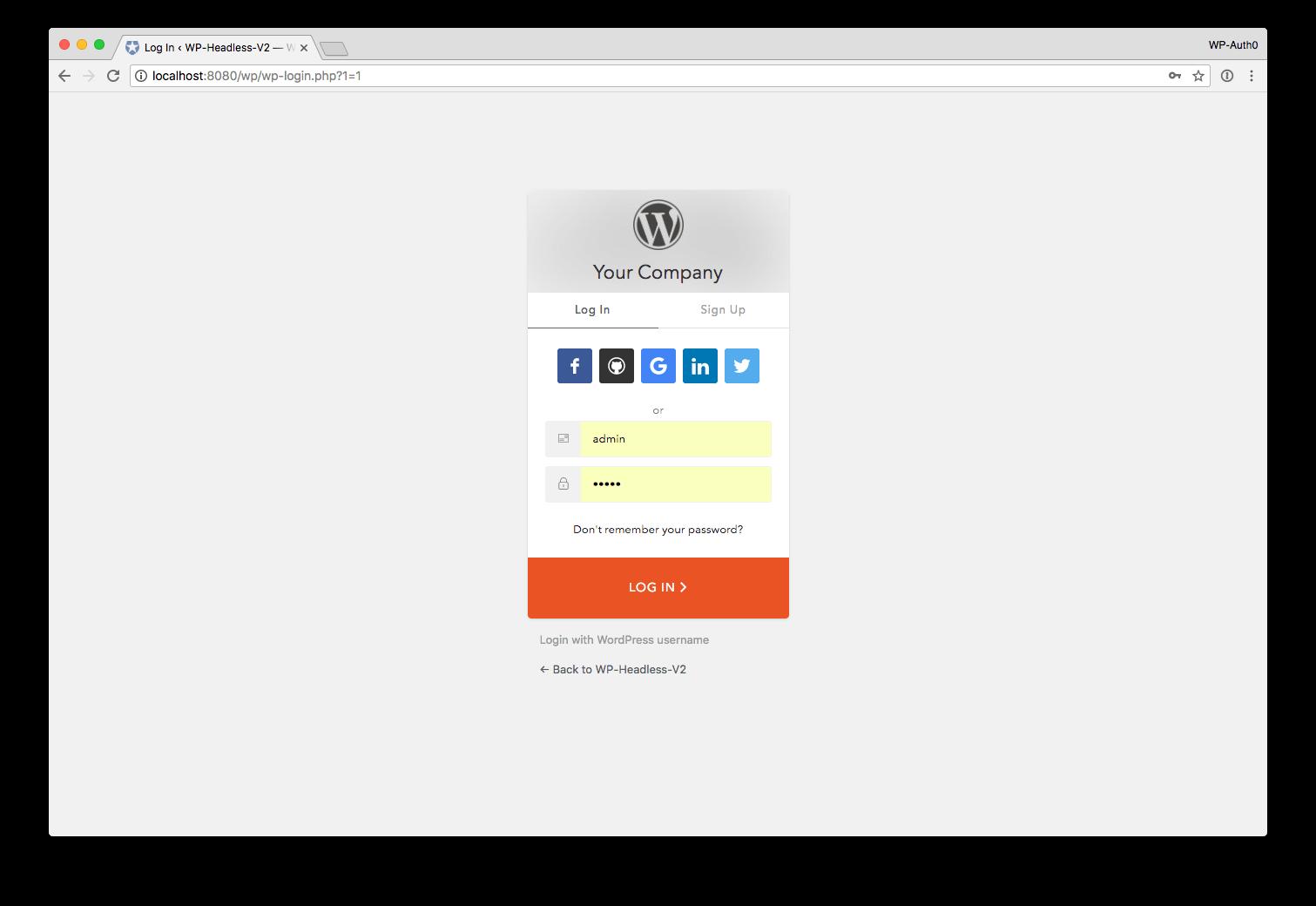 wordpress create new account