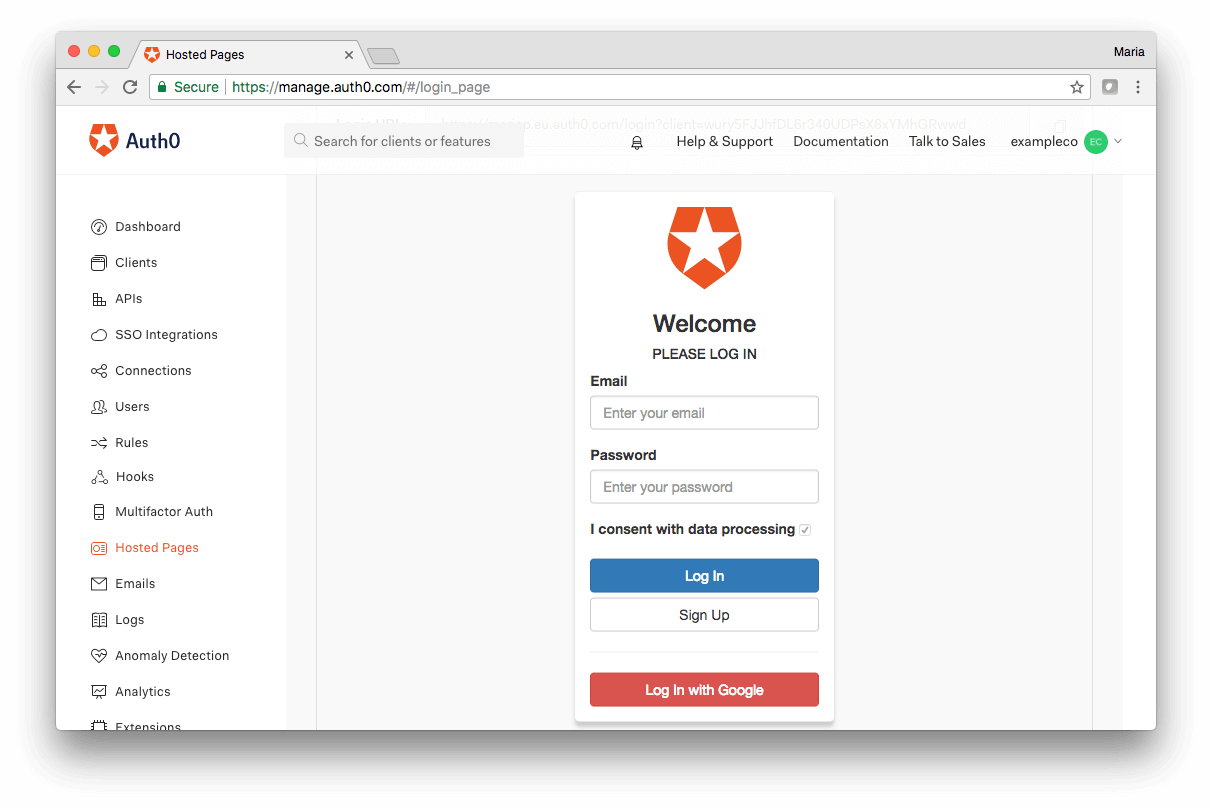 Preview custom form with auth0.js