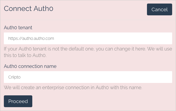 Auth0 connections details