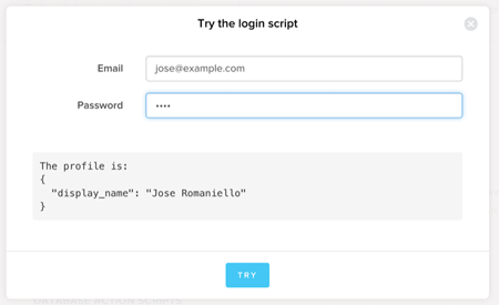 Try the login script