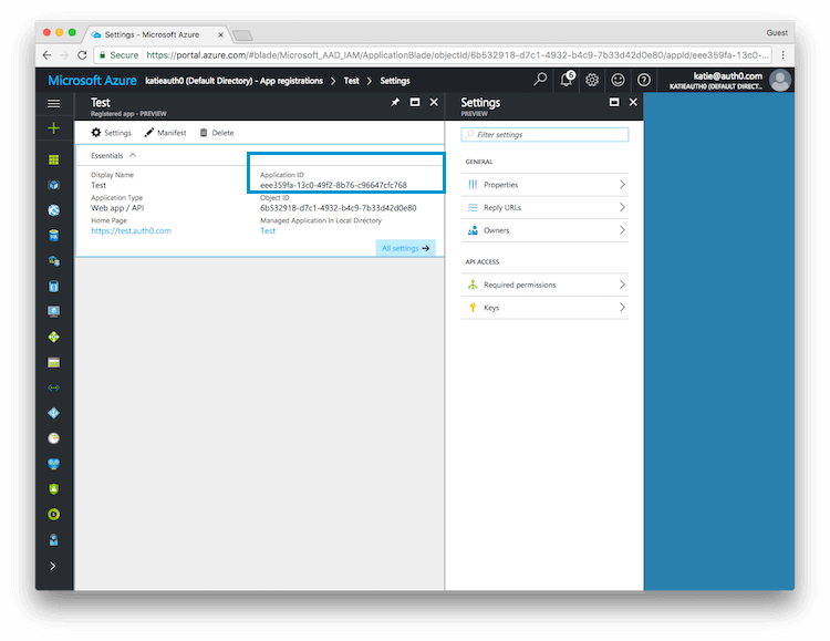 Connect your app to Microsoft Azure Active Directory