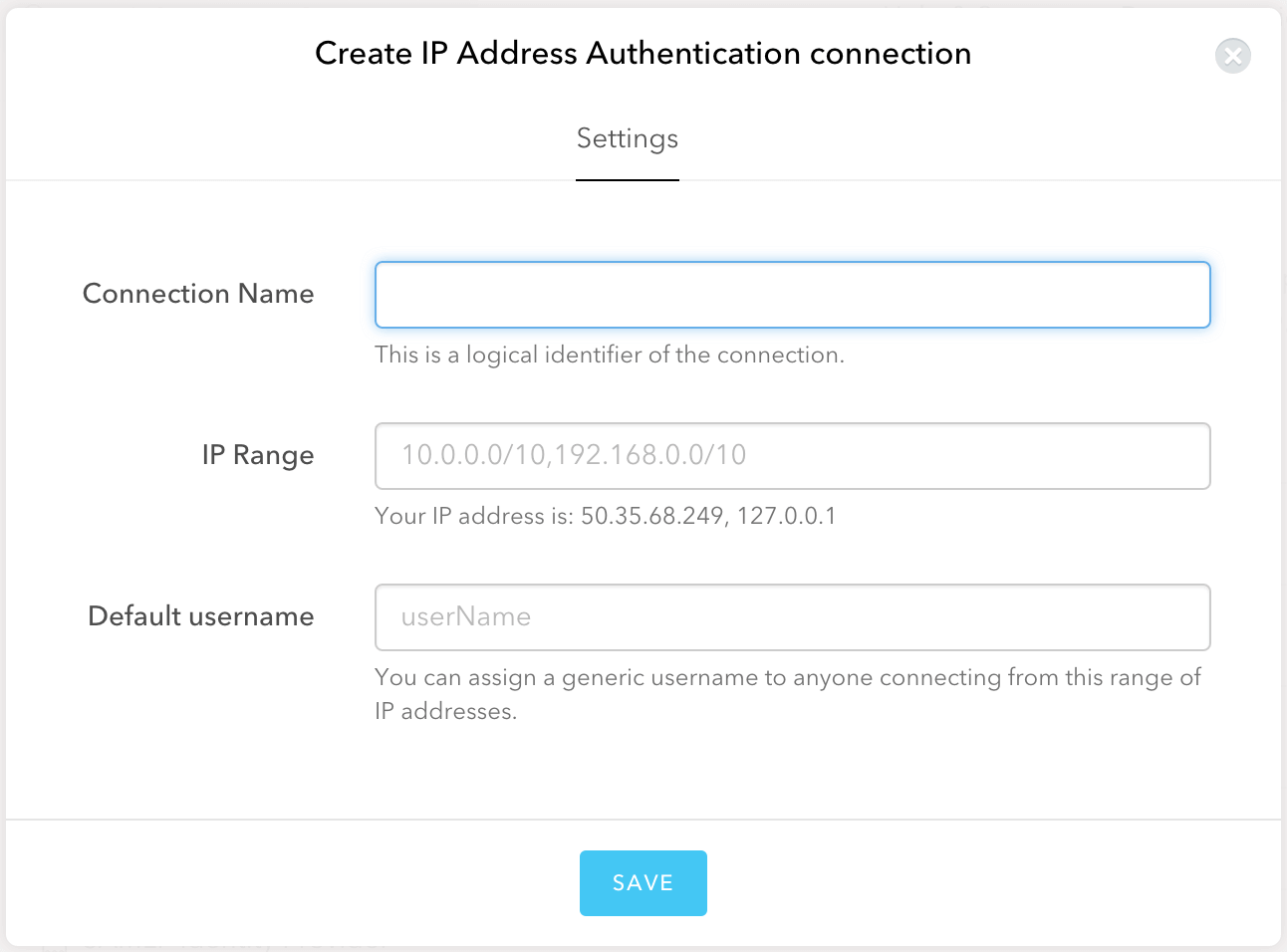 IP Address Configuration