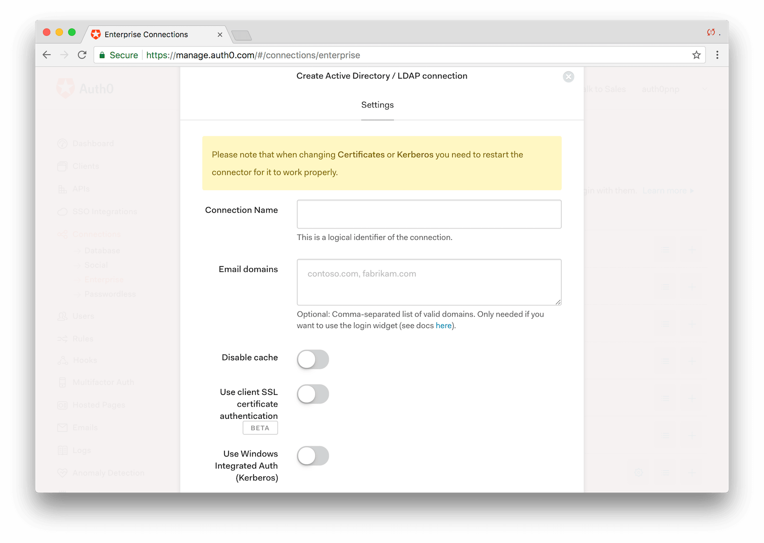 Using LDAP Authentication with Auth0
