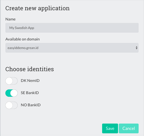 Create application with Auth0