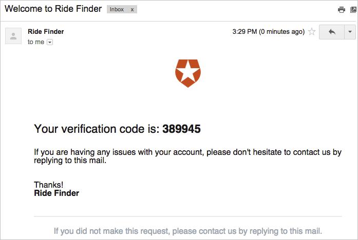 Receive Code via Email