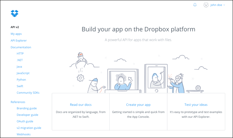 Connect your app to Dropbox