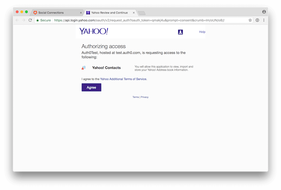 Connect your app to Yahoo!