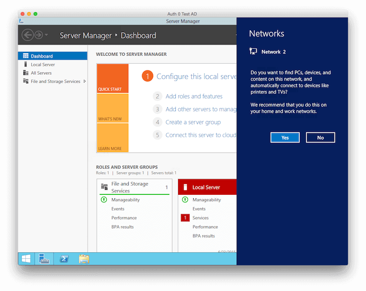Creating a Test Active Directory Domain Controller