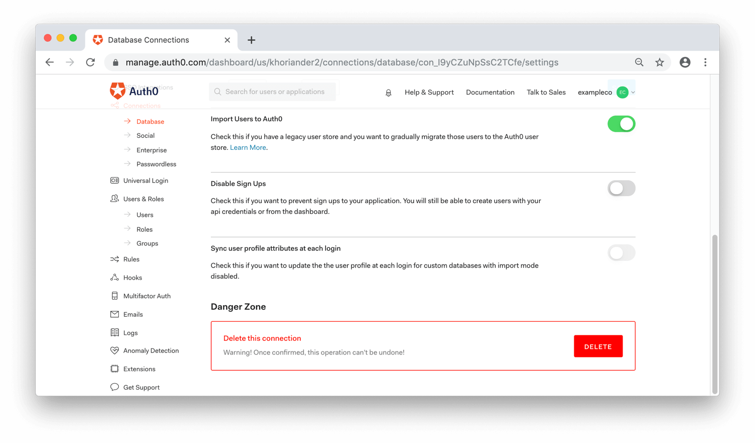 Dashboard: Enable Import Users Option
