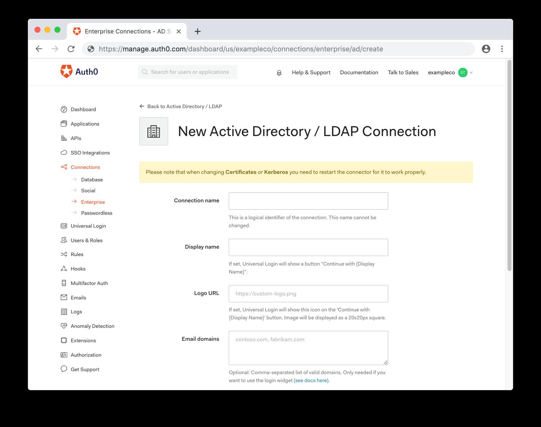 Configure General AD/LDAP Settings