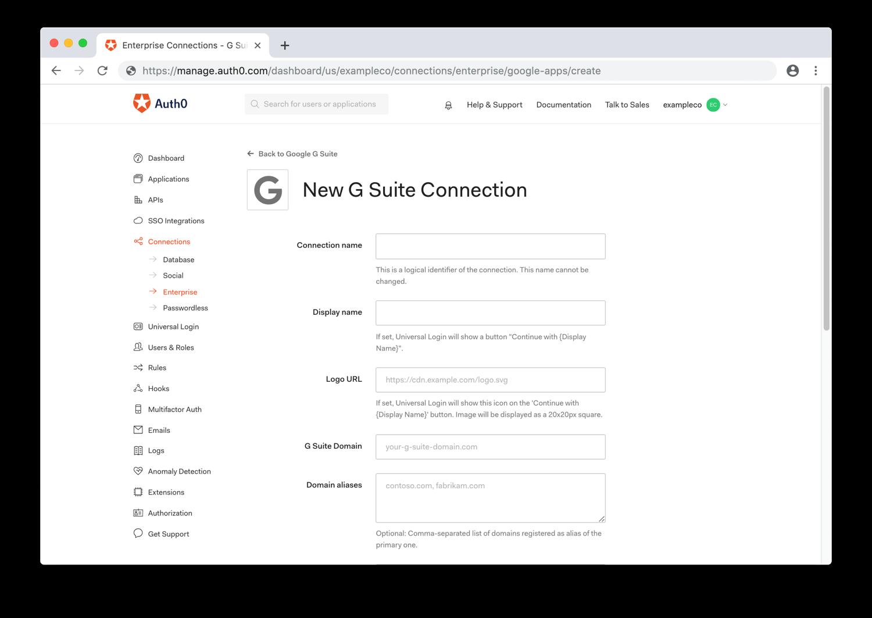 Configure General Google G Suite Settings