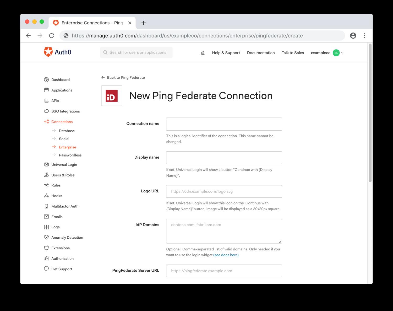 Configure General PingFederate Settings
