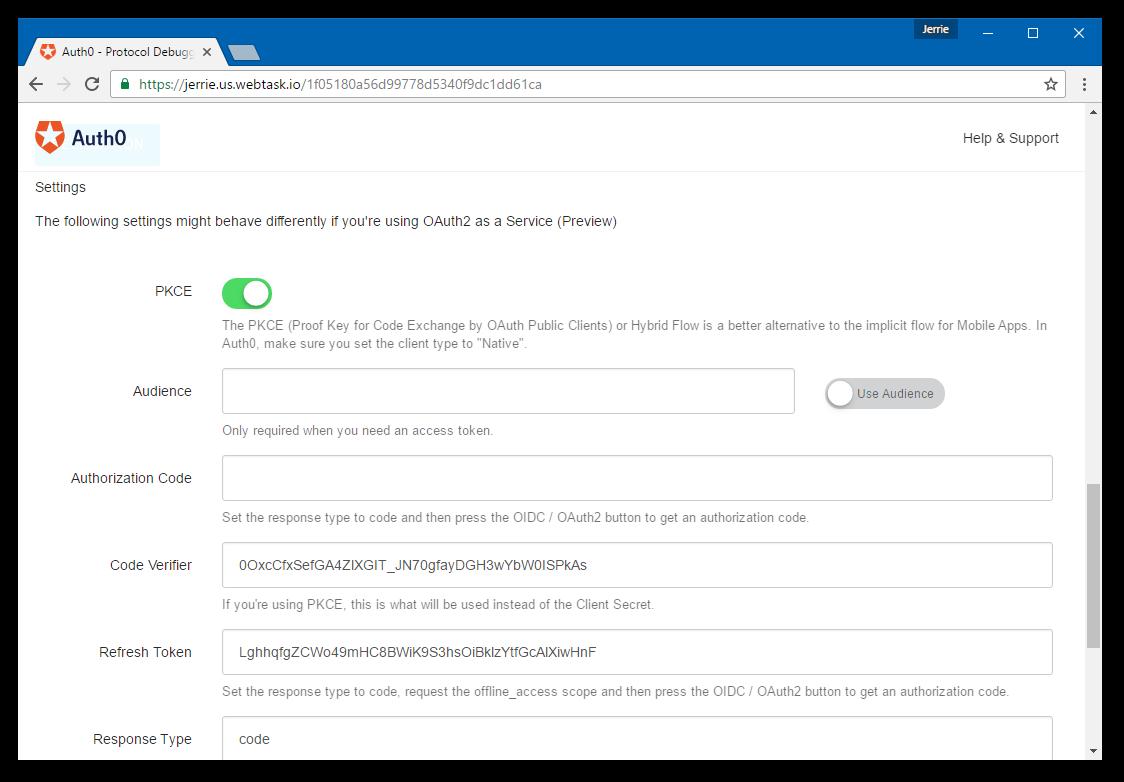 OAuth2 / OIDC Settings