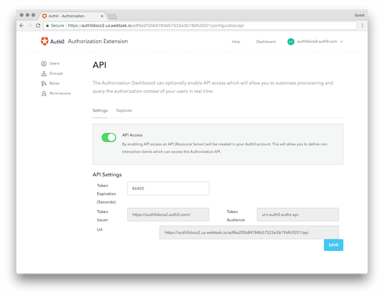 API Access Enabled