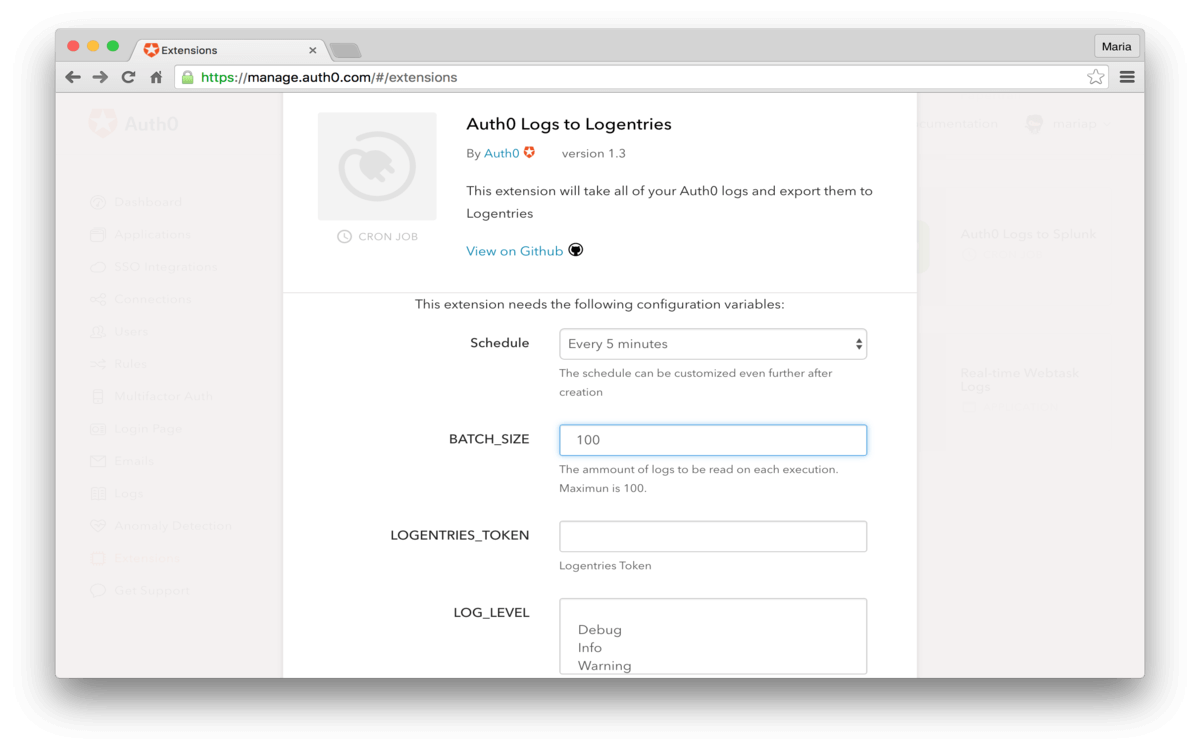 Auth0 Logs to Logentries