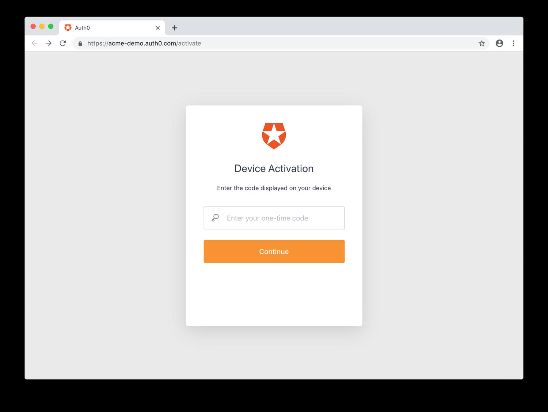Enter User Code