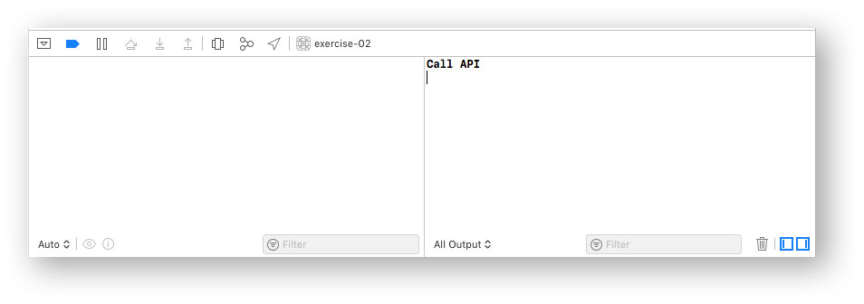 Call API debug message in Xcode console