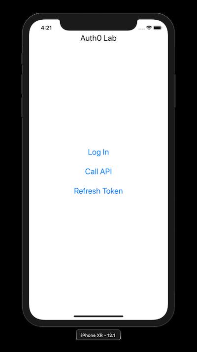 Refresh token button in iOS application