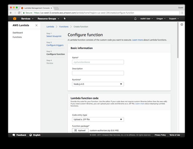 AWS API Gateway Tutorial, Part 3: Create the Custom Authorizers