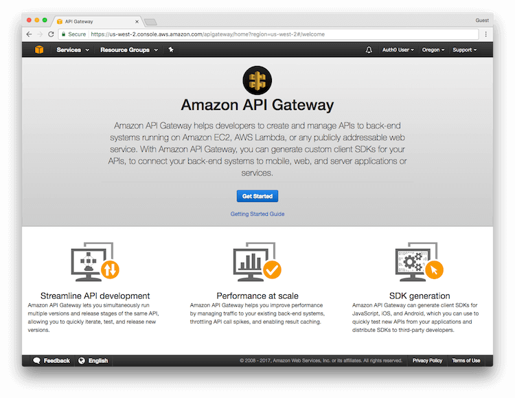 Get started with API Gateway