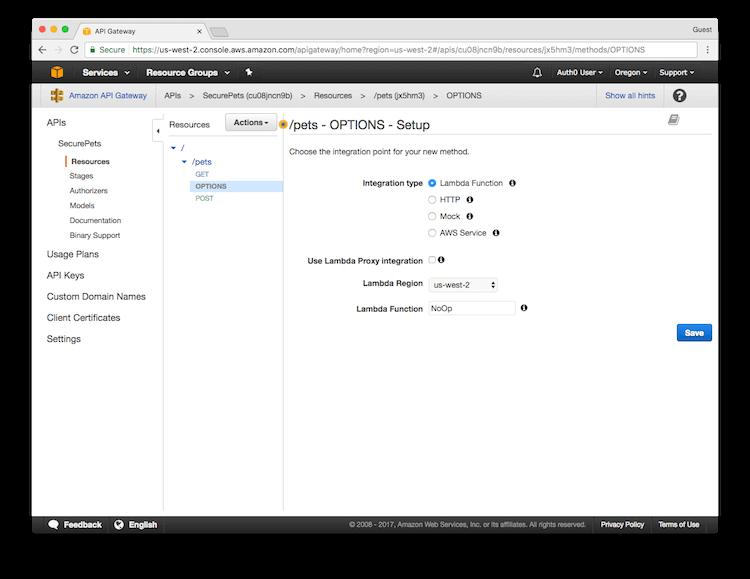 Configure Options Method