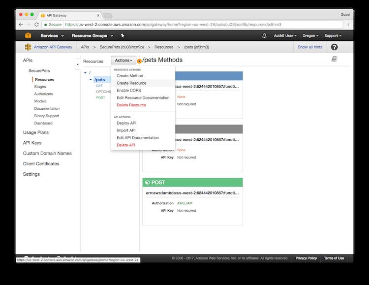 Amazon API Gateway Tutorial - Using Multiple Roles