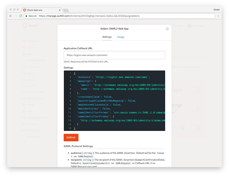 Configure Single Sign-On with the AWS Console