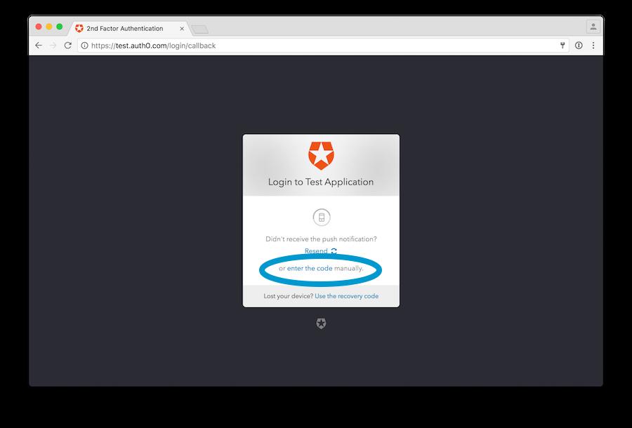 Enter code at Guardian widget