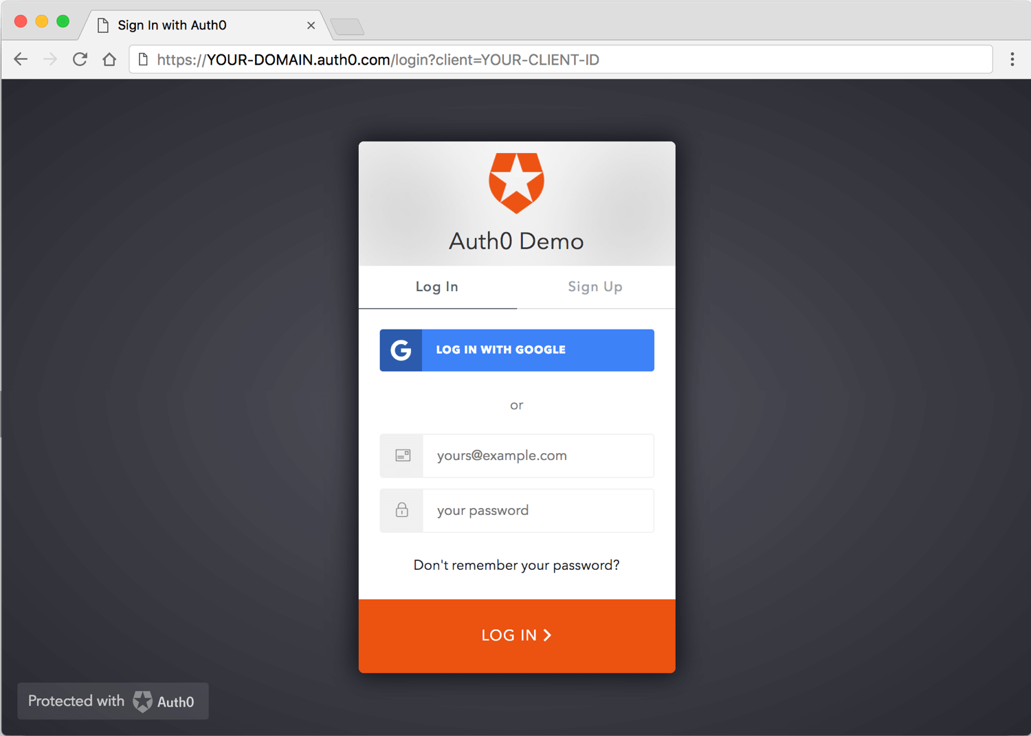 Add Login to Your Single-Page App