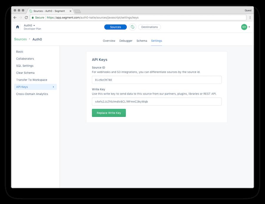 Segment API Keys