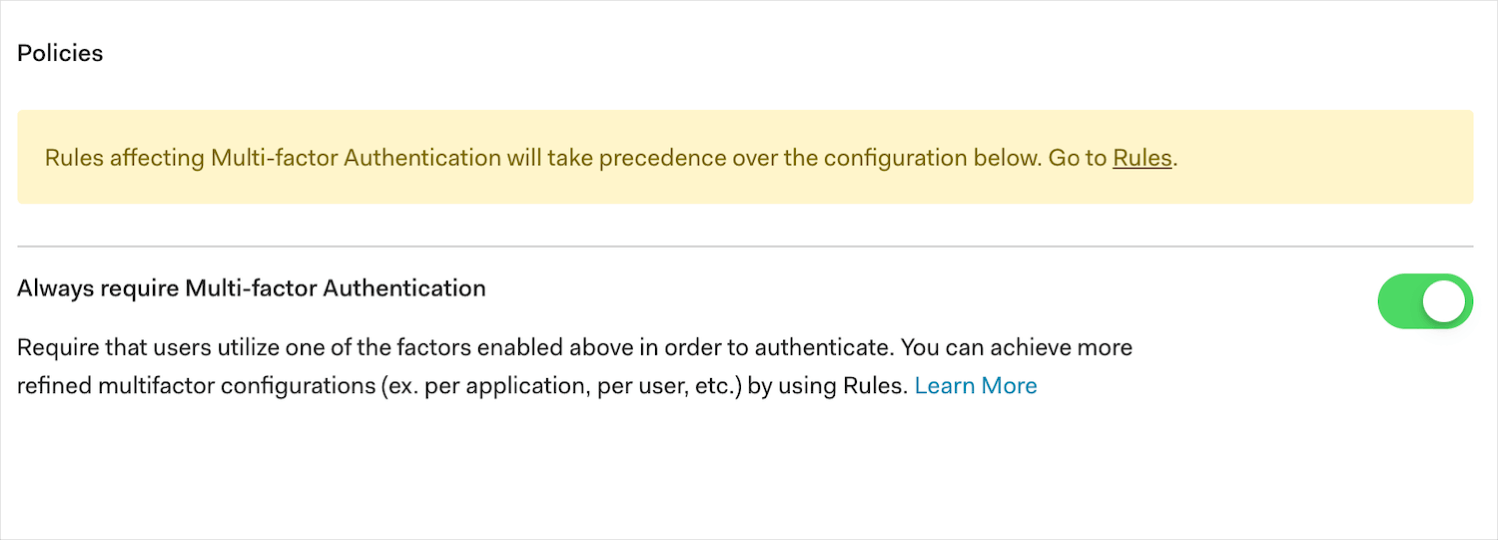Multi-factor Authentication in Auth0