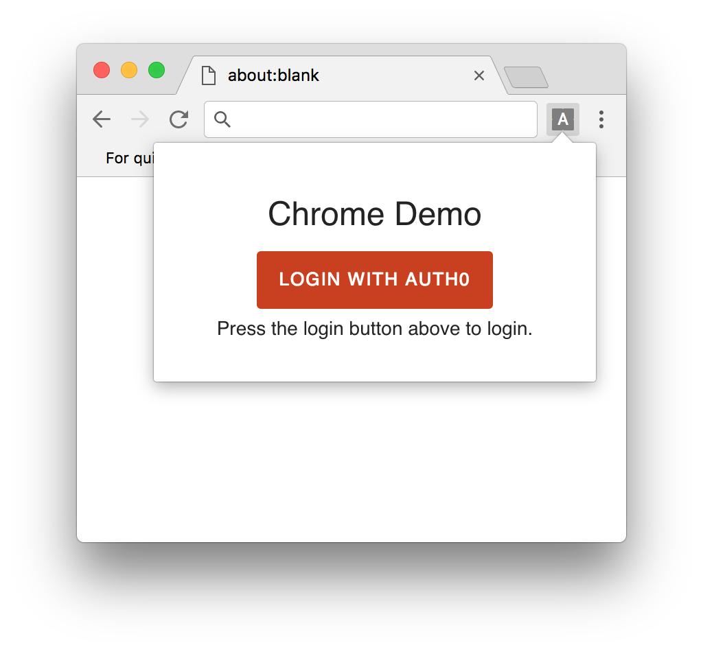 Auth0 Chrome Extension SDK Quickstarts: Login