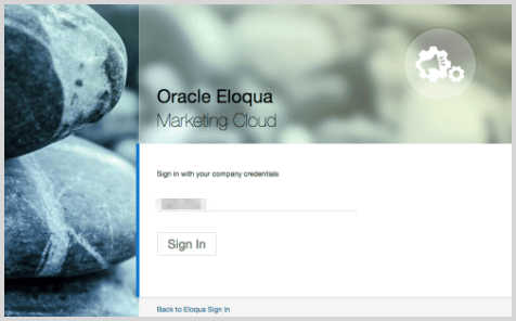 Eloqua SP Initiated Login