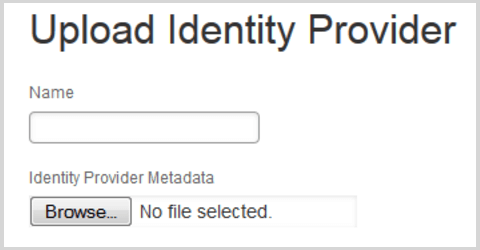 Upload Identity Provider Metadata