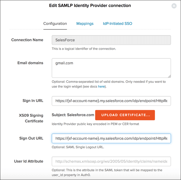 SAML Single Sign-on (SSO) with SalesForce