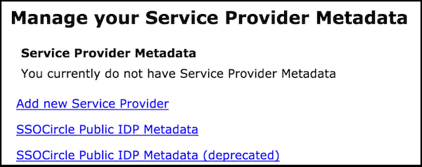 Manage Metadata Screen