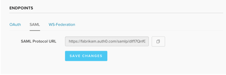 SAML Protocol URL