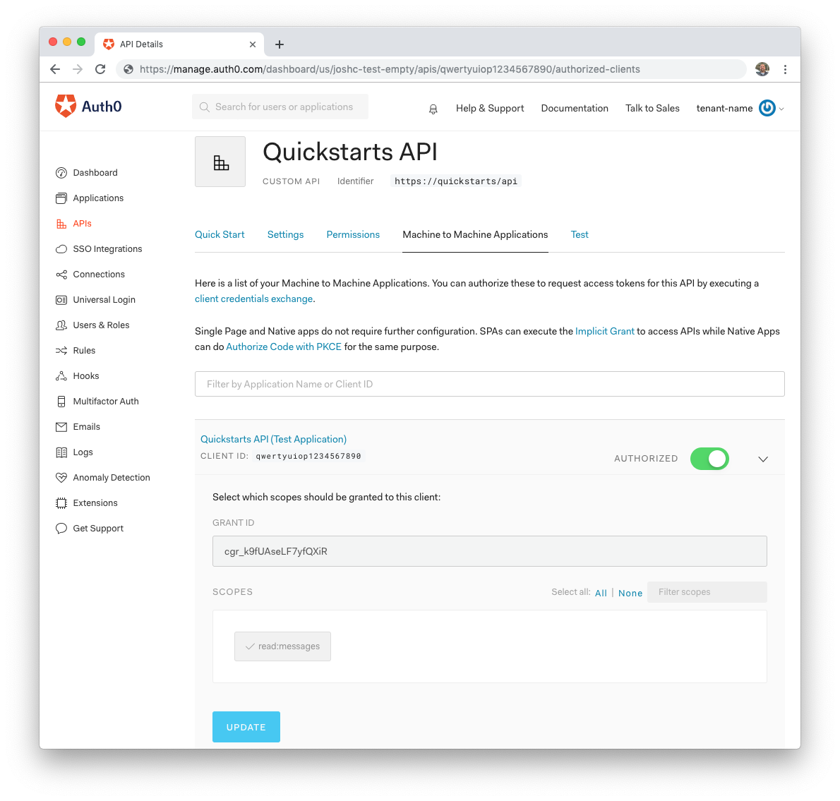 Auth0 Laravel API SDK Quickstarts: Authorization