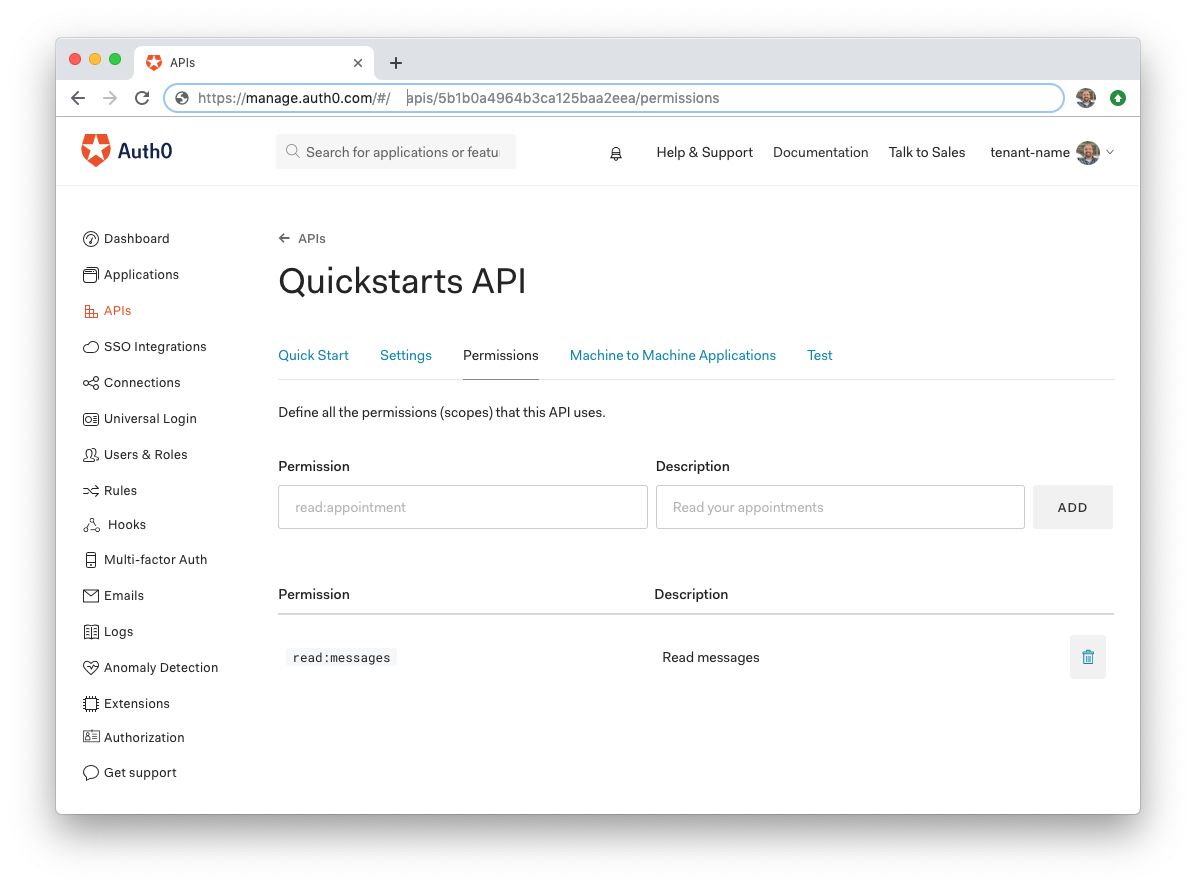 Auth0 Python API SDK Quickstarts: Authorization