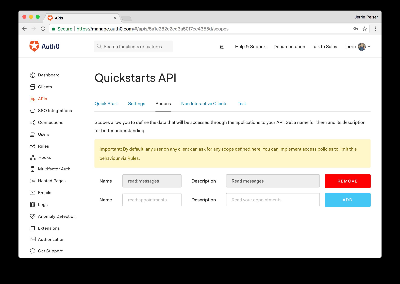 Auth0 Go SDK Quickstarts: Authorization