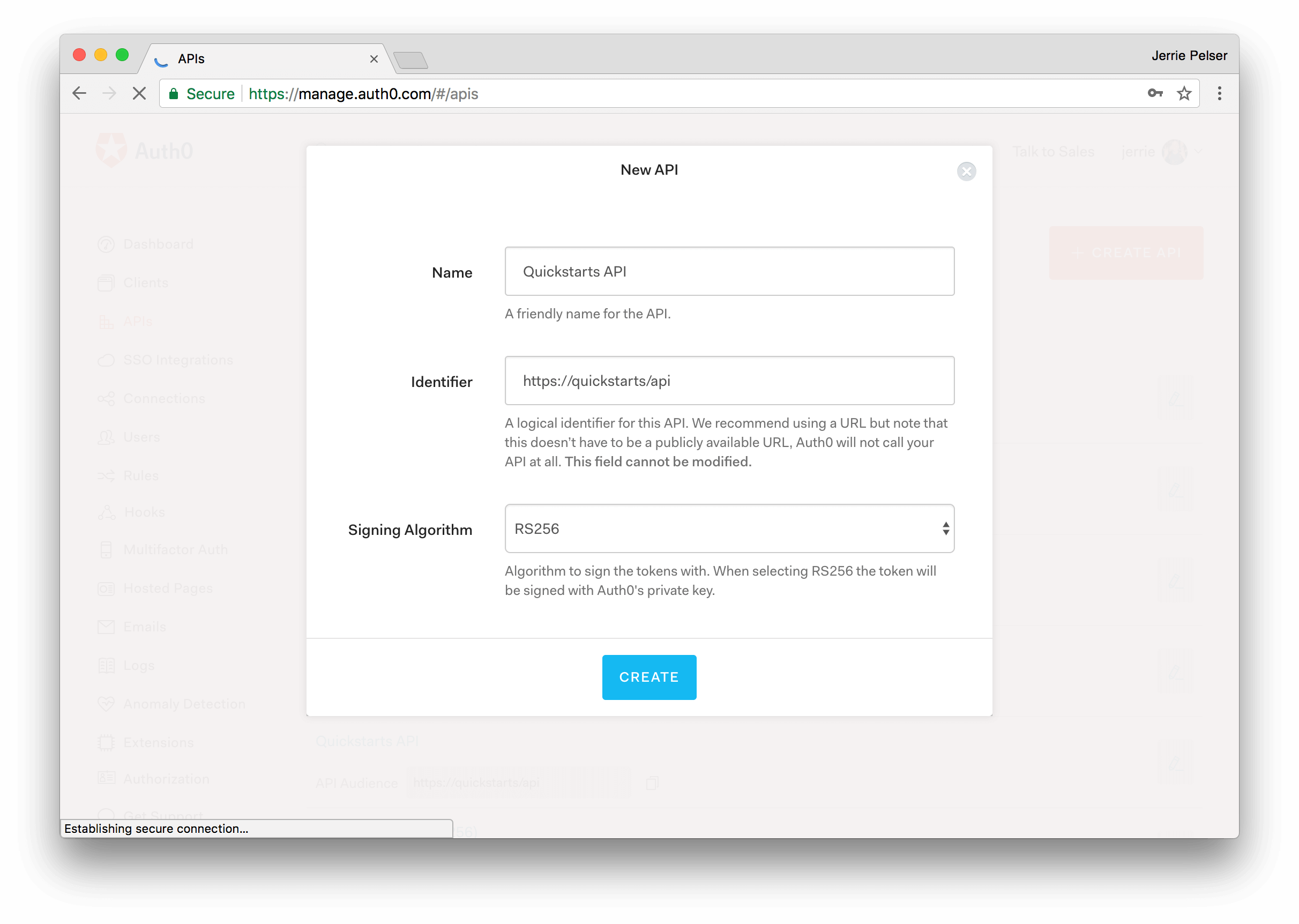 Auth0 Spring Security 4 Java API SDK Quickstarts: Authorization