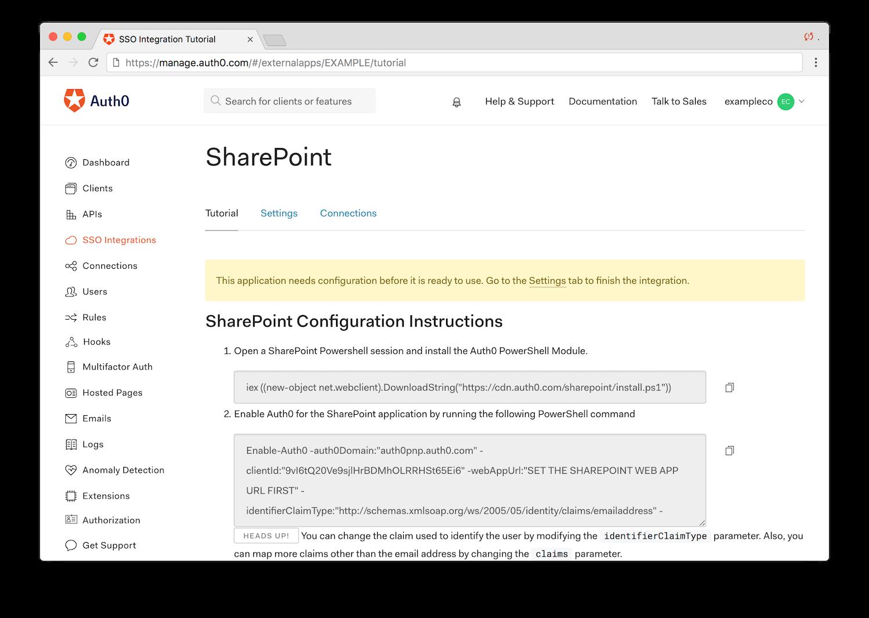SharePoint Single Sign-On Integration